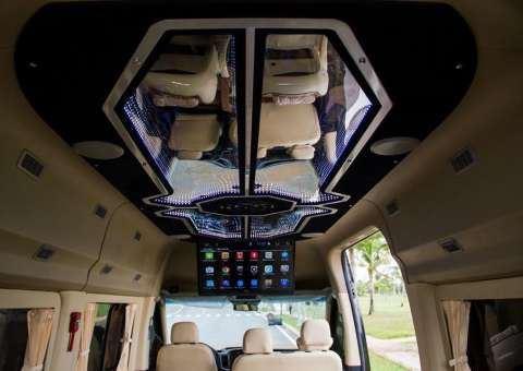Trần xe Solati Limousine SKYBUS 12 ghế