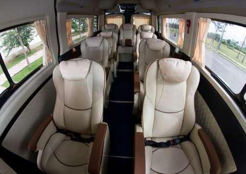 Gối đầu Solati Limousine 12 chỗ SKYBUS sử dụng loại vài cao cấp bằng tơ sen